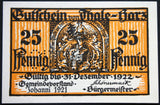 "THALE 1921 SPECIMEN ""Walpurgisnacht Witches' Dance"" German Notgeld"