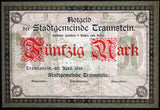 TRAUNSTEIN 1919 Uncataloged Specimen! 50 Mark w/o serial, stamp or sig! Notgeld