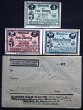 TREFFURT 1920 complete + Robert Ball envelope! circulating Notgeld Germany