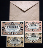 "TRIEBES 1921 ""Industry & Trade Exhibition"" complete + RARE Robert Ball Envelope!"