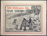 "VOHWINKEL 1923 RARE Specimen/Test Print ""Death Dance"" 100 Million Mk Notgeld"