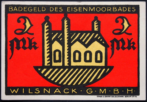 "WILSNACK XX-RARE ""Badegeld (Bath Money)"" single notes German Notgeld Eisenmoorbad"