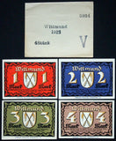 WITTMUND 1922 rare complete series + Robert Ball envelope! German Notgeld
