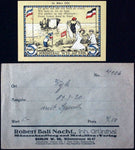 WYK 1920 5 Mark w/Text in RARE Robert Ball Envelope! German Notgeld