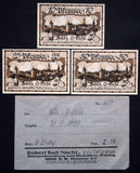 ZÜLZ 1921 complete series + RARE Robert Ball envelope! Germany Notgeld Poland