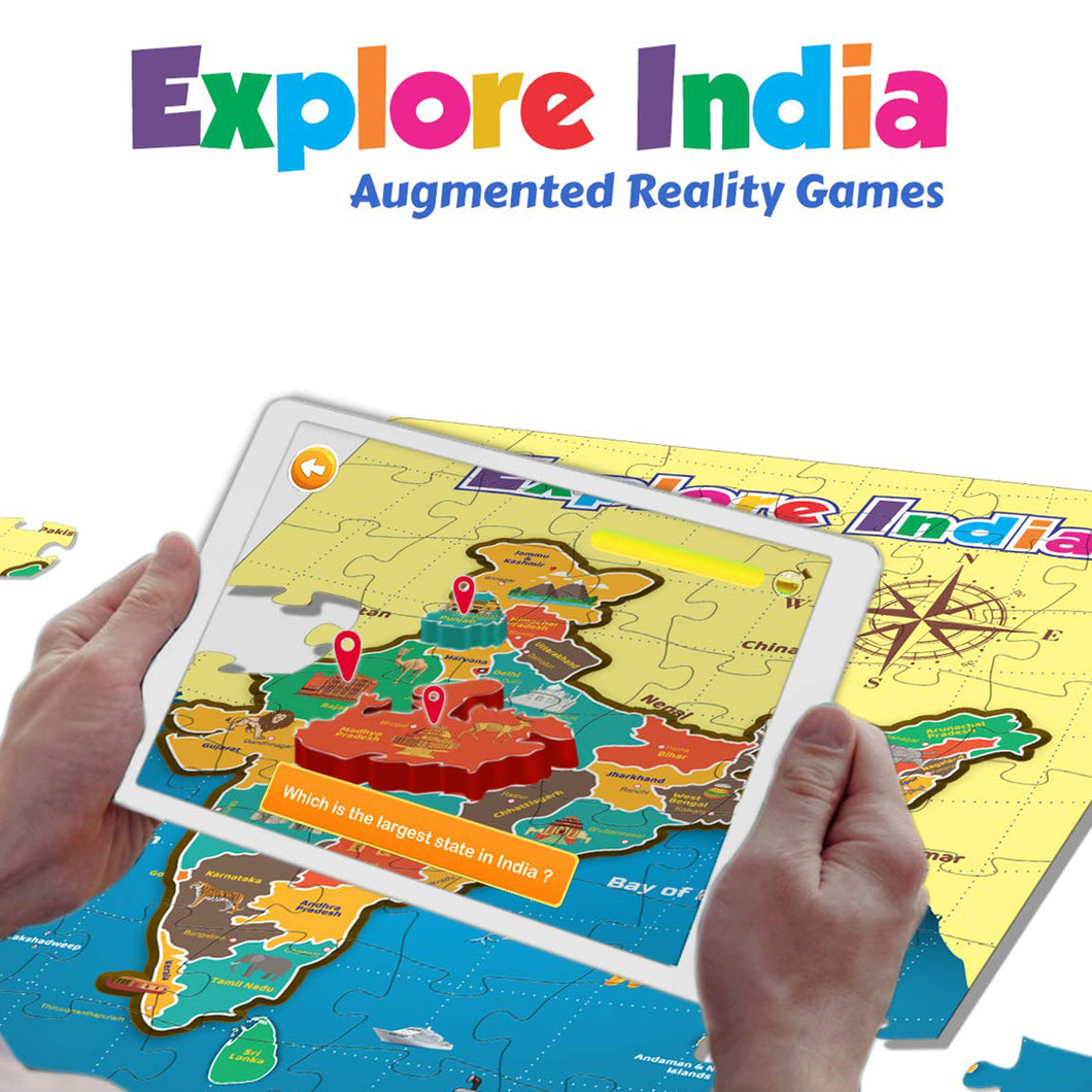 Explore India Augment Reality educational game for kids