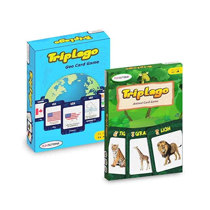 Combo Pack - Triplago - Geo and Animals Card Games