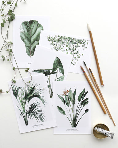 5 x mini art prints Botanics ss17