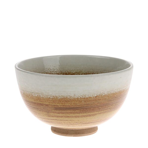 Ceramic brown/white bowl