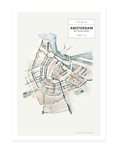 A5 Mini art print - Amsterdam