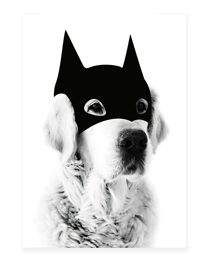 A5 Mini art print - Batdog