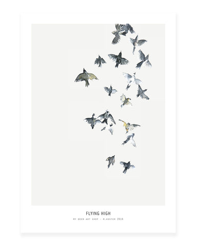 A5 Mini art print - Flying High