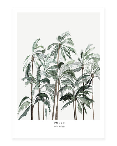 A5 Mini art print - Palms II