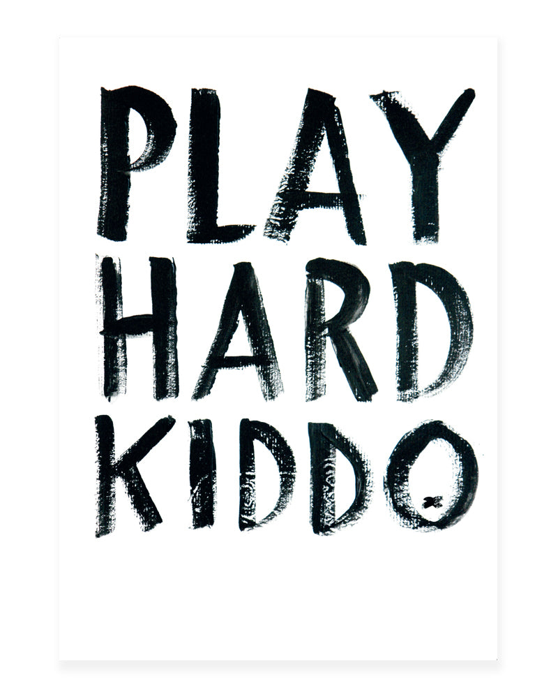 A5 Mini art print - Play hard