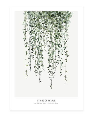 A5 Mini art print - String of Pearls