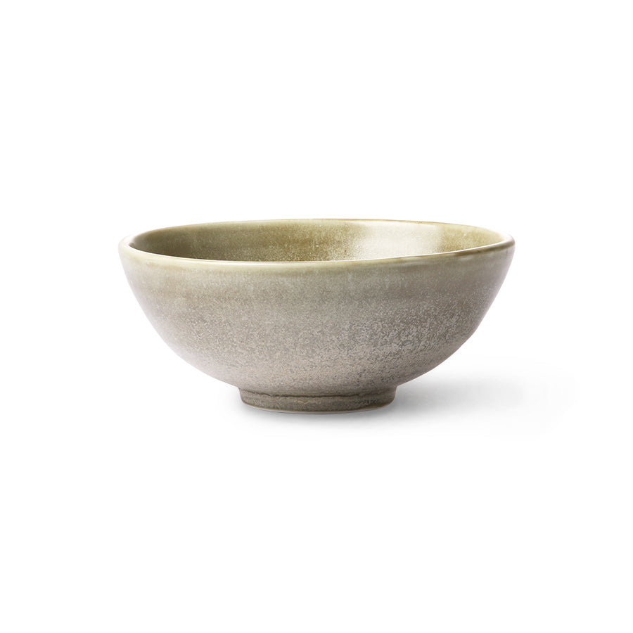 Salad bowl rustic green/grey