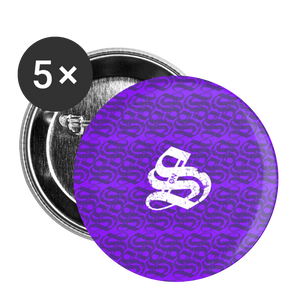 SonS PurpleButtons large 2.2'' (5-pack) - white