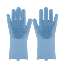 Load image into Gallery viewer, Magic  Dishwashing Scrubber Gloves