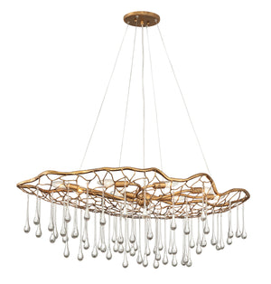 Hinkley - 45308BNG - Eight Light Chandelier - Laguna - Burnished Gold