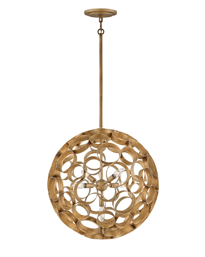 Fredrick Ramond Four Light Chandelier in Burnished Gold finish from the Centric collection