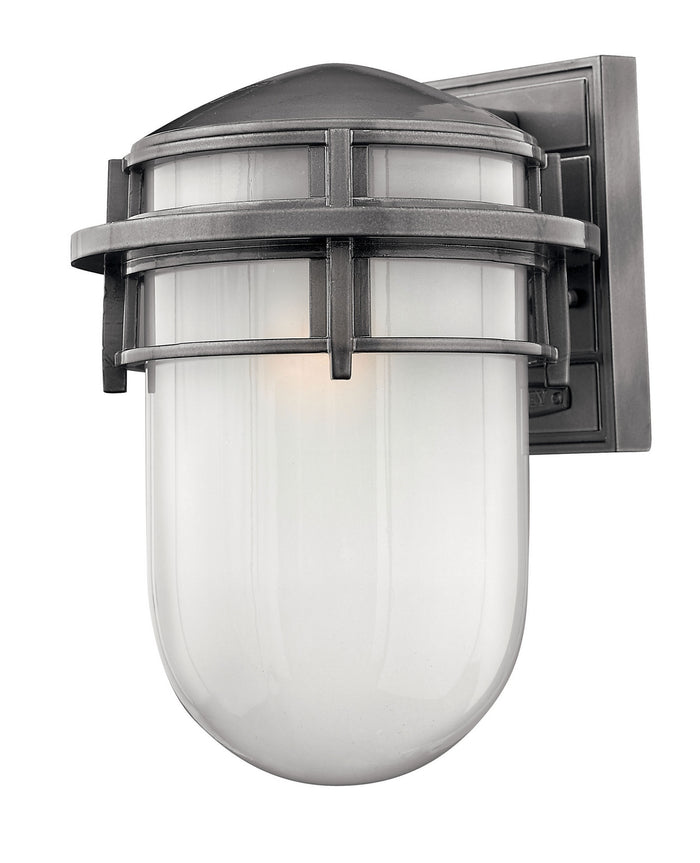 Hinkley One Light Wall Mount in Hematite finish from the Reef collection