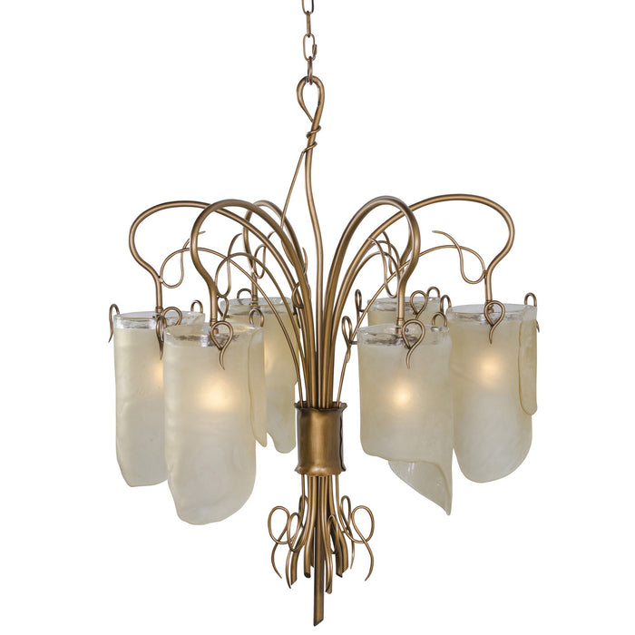 Soho Hammered Ore Six Light Chandelier by Varaluz