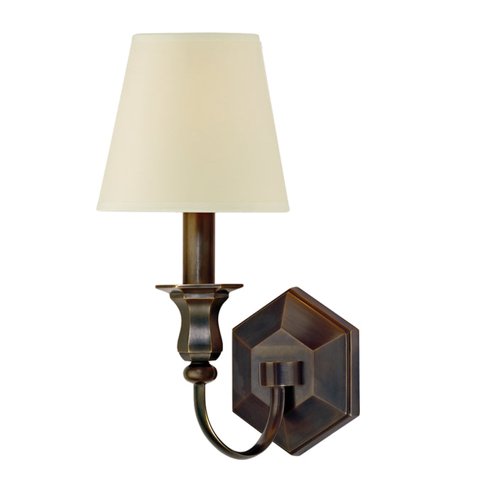 Charlotte Old Bronze One Light Wall Sconce by Hudson Valley