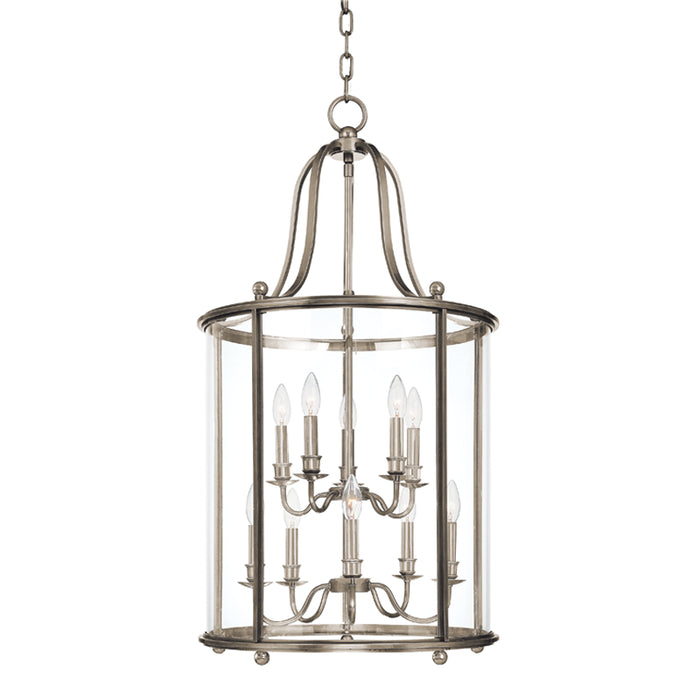 Mansfield Polished Nickel Ten Light Pendant by Hudson Valley