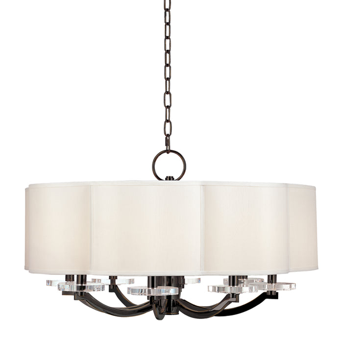 Garrison Old Bronze Eight Light Chandelier by Hudson Valley