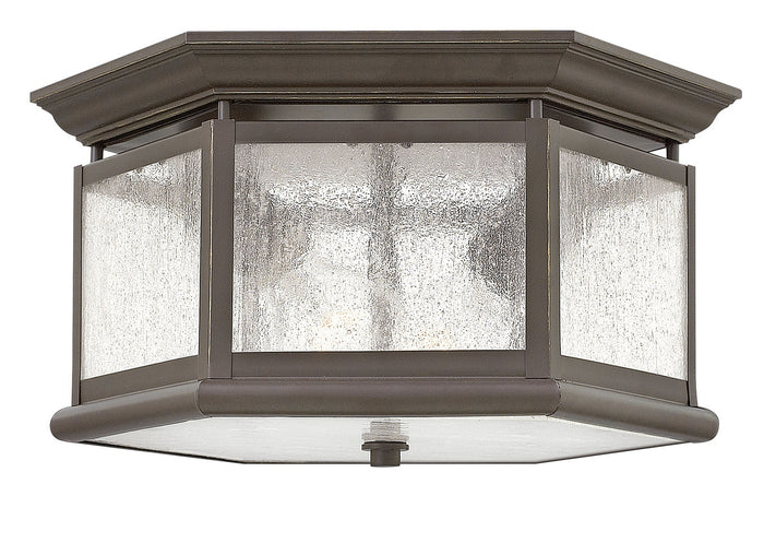 Edgewater Oil Rubbed Bronze Two Light Flush Mount by Hinkley
