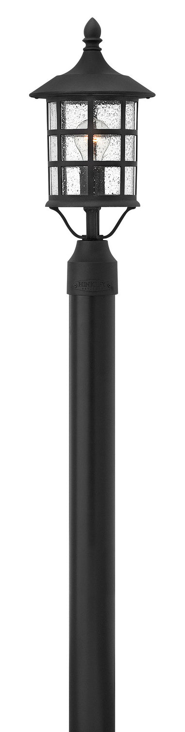 Hinkley One Light Post Top/ Pier Mount in Black finish from the Freeport collection