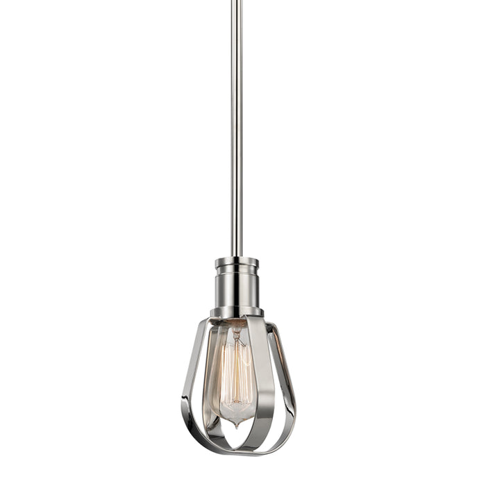 Red Hook Polished Nickel One Light Pendant by Hudson Valley
