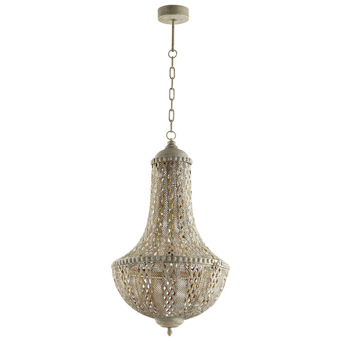 Cyan One Light Pendant in Antique Silver finish from the Tangier collection