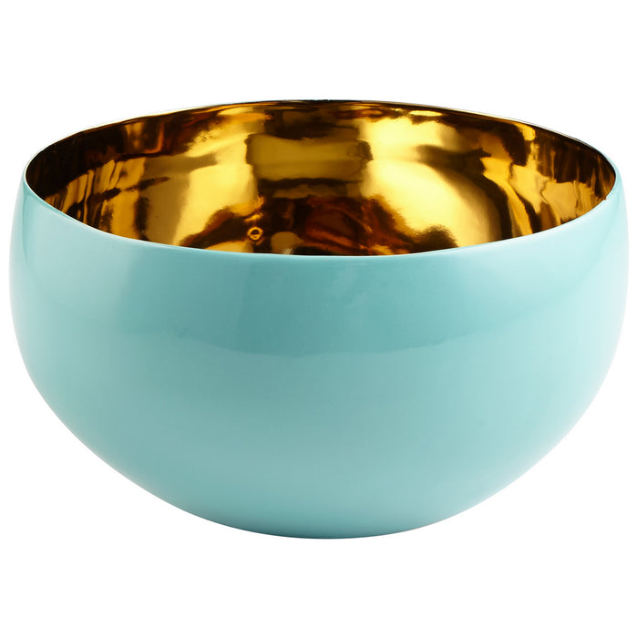 Cyan Bowl in Aqua finish from the Nico collection