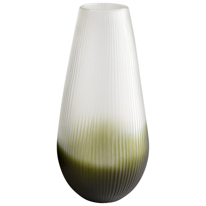 Cyan Vase in Green finish from the Benito collection