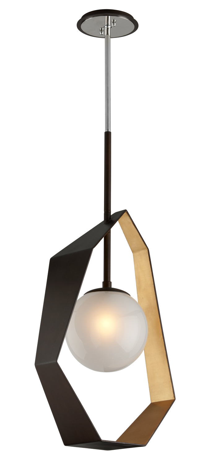 Origami Bronze With Gold Leaf LED Pendant by Troy Lighting