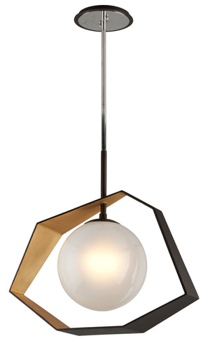 Troy Lighting - F5526 - LED Pendant - Origami - Bronze With Gold Leaf