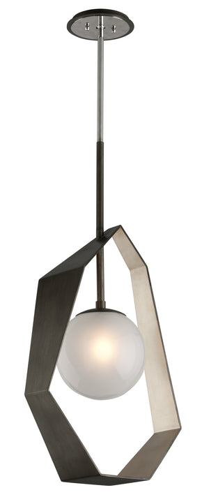 Troy Lighting - F5534 - LED Pendant - Origami - Graphite With Silver Leaf