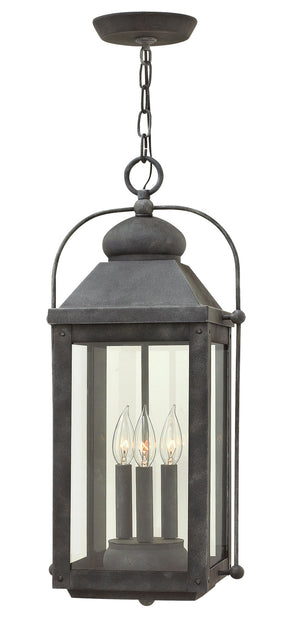 Hinkley - 1852DZ-LL - Three Light Hanging Lantern - Anchorage - Aged Zinc