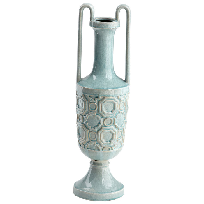 Cyan Vase in Teal finish