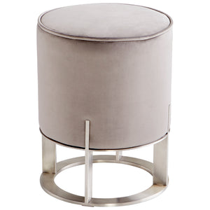 Cyan - 09593 - Ottoman - Brushed Stainless Steel