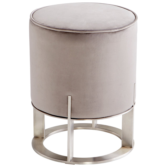 Cyan Ottoman in Brushed Stainless Steel finish