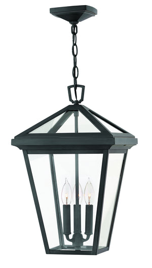 Hinkley - 2562MB-LL - Three Light Hanging Lantern - Alford Place - Museum Black