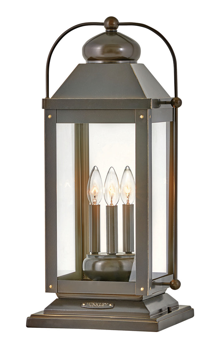 Anchorage Light Oiled Bronze Three Light Outdoor Lantern by Hinkley