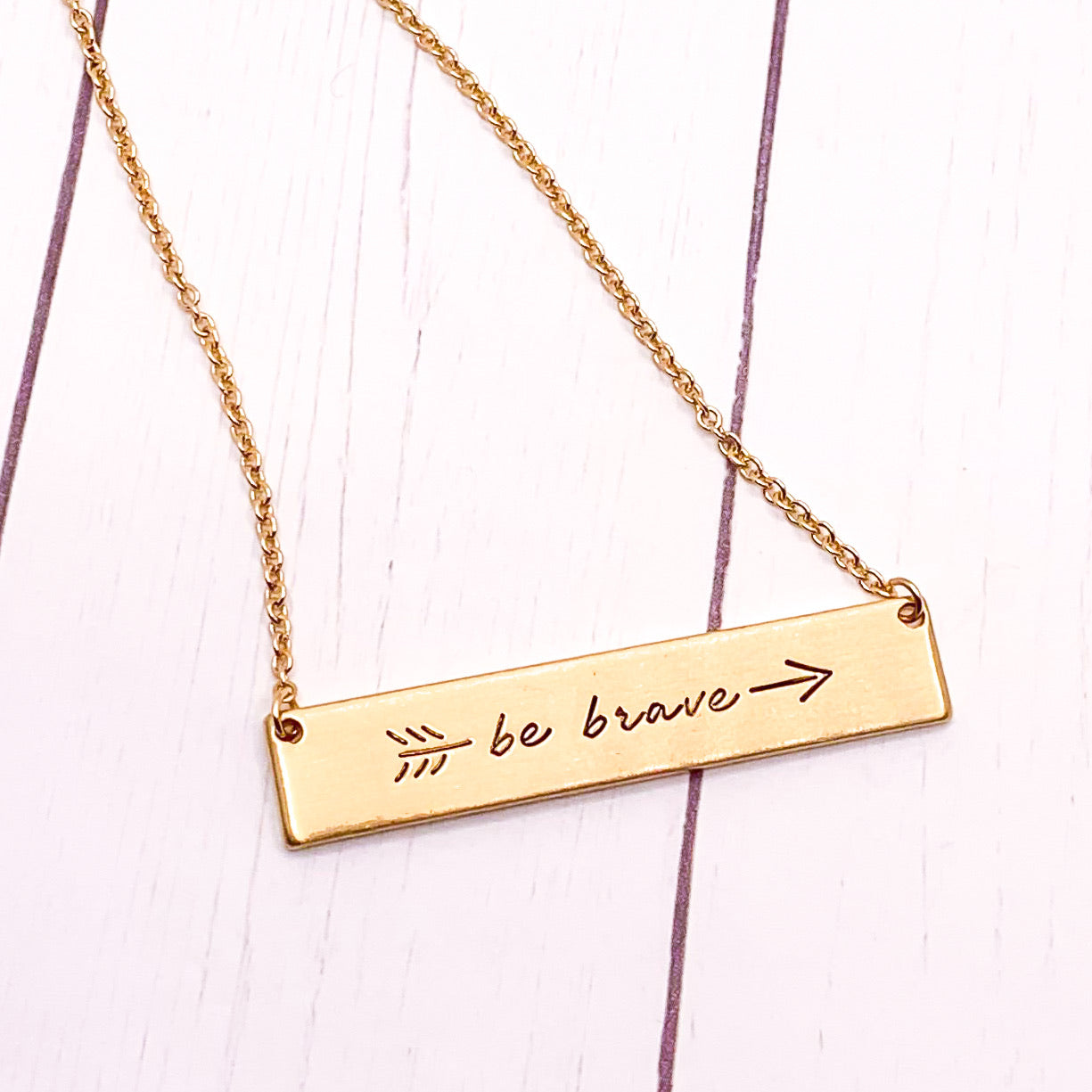 Be Brave - Gold Necklace
