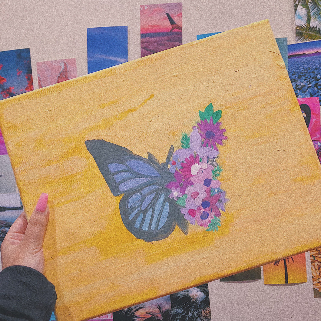 Floral Butterfly Morph Painting
