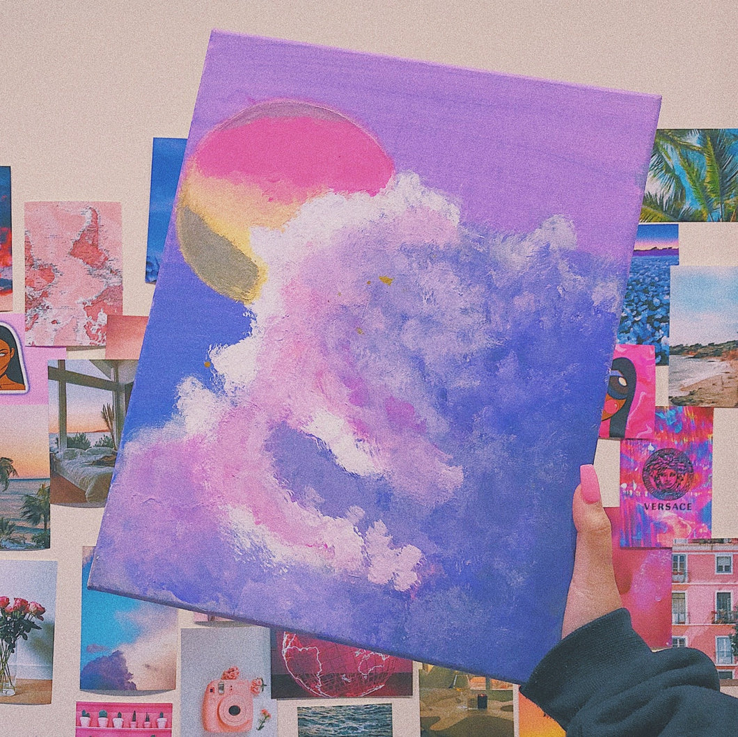 Dreamy Cloud Acrylic Painting