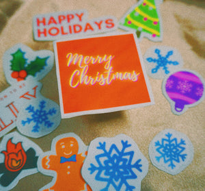 Happy Holiday Sticker Pack | X-MAS Vinyl Decal