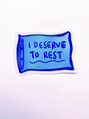 Blue Pillow Sticker