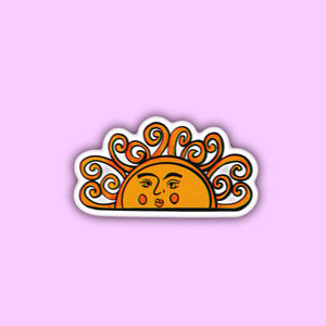 aesthetic yellow orange sunshine sticker